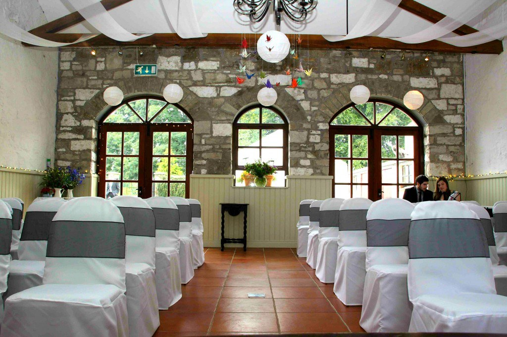 Northern Ireland Country Style Wedding Vintage Unique Coach House Stone Walls Decor