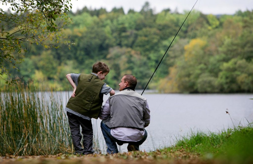 Great Outdoor Family Experience fishing at Blessingbourne private lake northern ireland