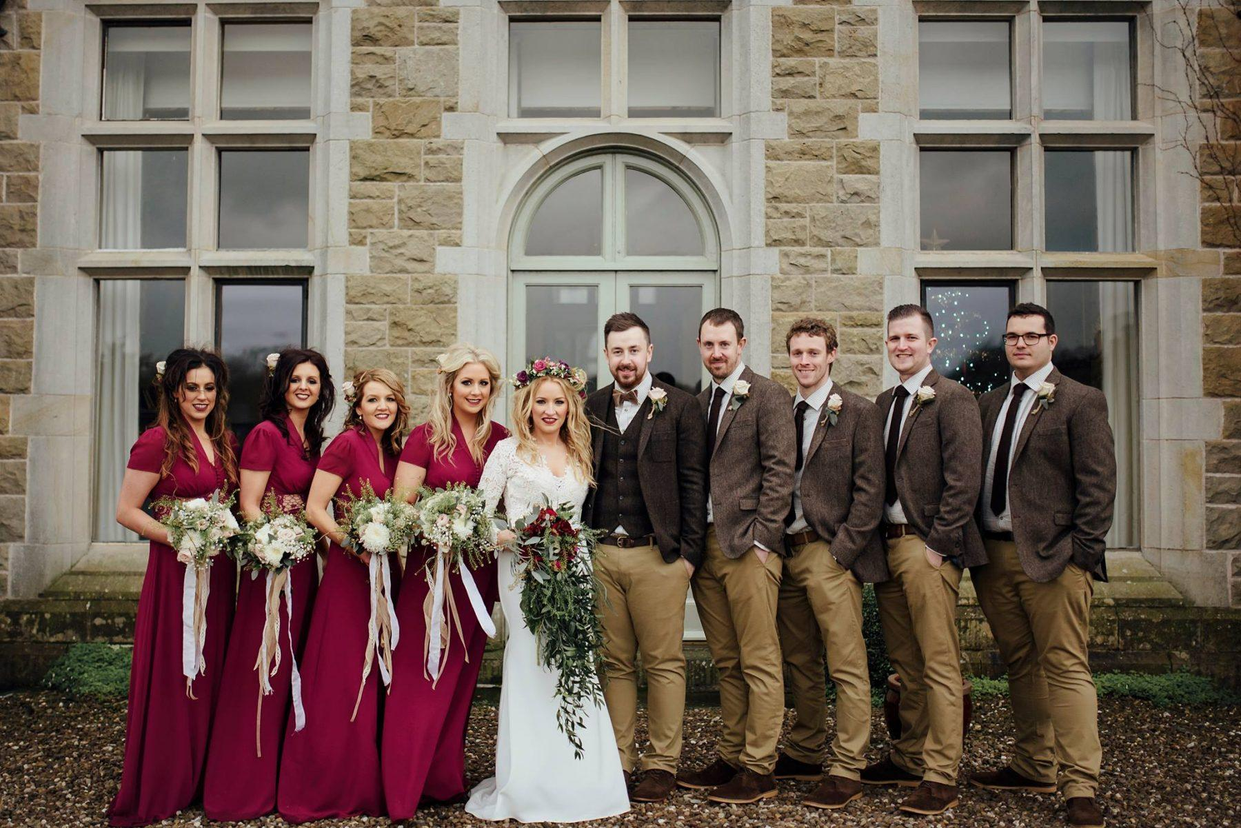 Photography Wedding Blessingbourne Northern Ireland Autumn Outdoors Estate Country Rustic Fairy Tale Bride Groom Bridal Party Style Manor House
