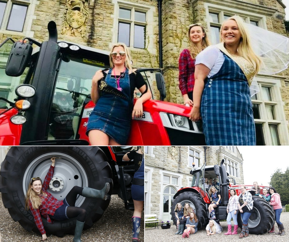 Tractor Hen Party Manor House Enniskillen Blessingbourne
